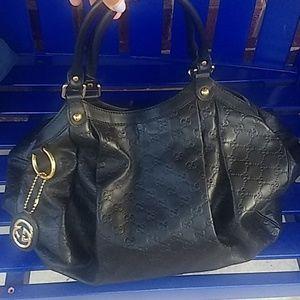 Gucci Sukey Tote- Black leather